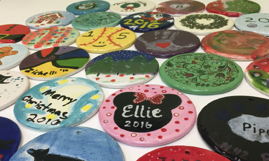 Ornaments Painted to benefit CAPTAIN Youth & Family Services
