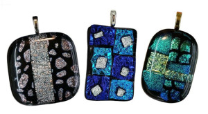 Dichroic Glass Jewelry now available at Arts & Glass in Clifton Park, NY.