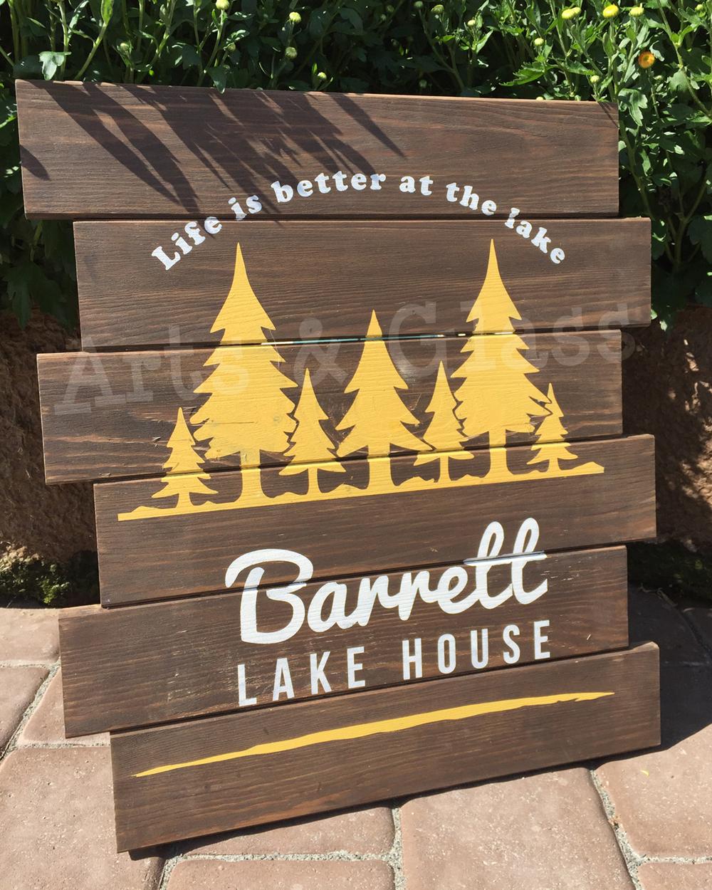 Board Art Lake House